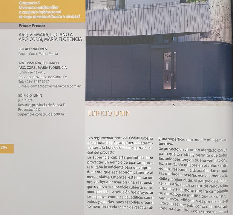 Galeria de fotos Edificio Junín, libro de Arquitectura